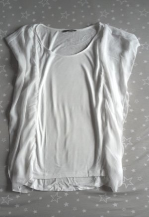 H&M Top extra-large blanc-blanc cassé