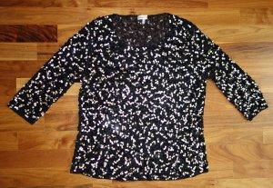 Schmeinck Glanzende blouse zwart-goud Polyamide