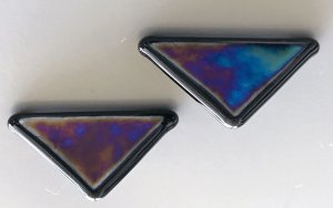 Zarcillo multicolor vidrio