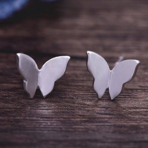 Schmetterling Ohrringe / Ohrstecker in 925er Silber – Ohrschmuck