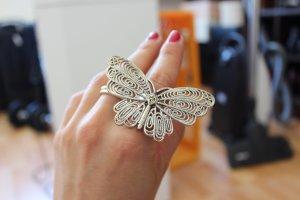 Schmetterling-Ring, Silber, Must-Have für den Sommer, Bloggers Liebling
