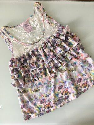 Zara Trafaluc Lace Top multicolored