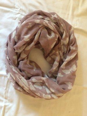 Neckerchief rose-gold-coloured-white polyester