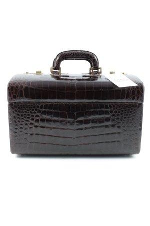 Cosmeticabox donkerbruin-bruin reptielen print