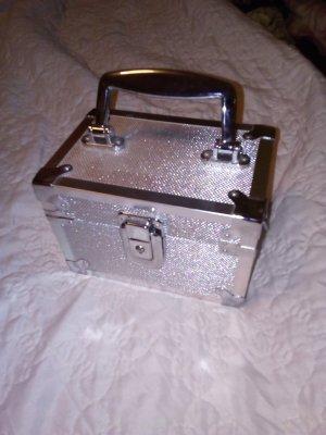 Schminkkoffer Koffer Metal Silber Box Tasche Beautybag Schminke Kulturtasche