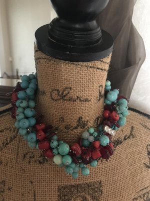 Collier Necklace red-turquoise