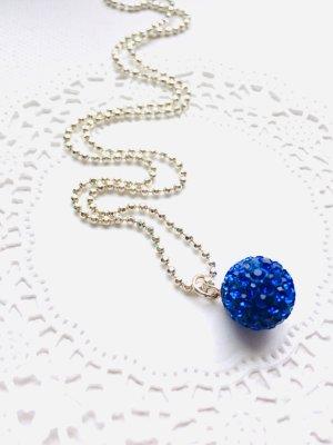 Pendente blu-argento