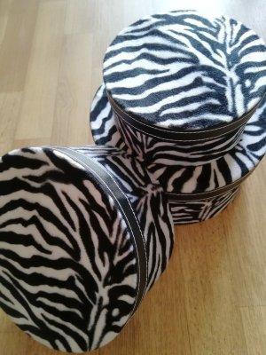 Schmuck Dessous Boxen Set Aufbewahrung Deko Zebra Safari Look NEU