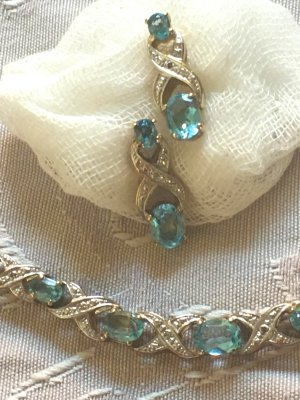 Vintage Collier Necklace multicolored real silver