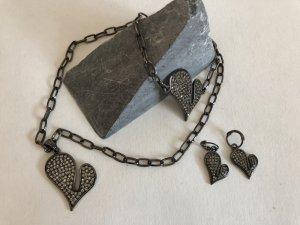Pendente argento-nero
