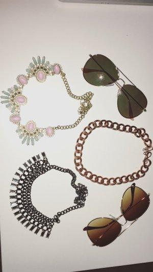 Schmuck // Statementkette und Sonnenbrillen