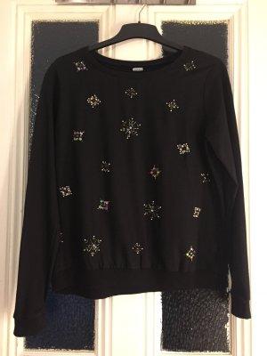 Schmuck Sweater von Pimkie mit Perlen, Gr. 40