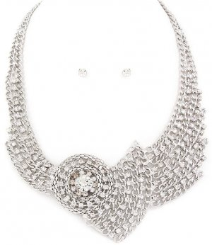 Collier Necklace silver-colored-white metal