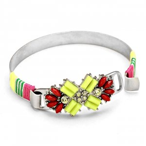 Bangle neon yellow metal