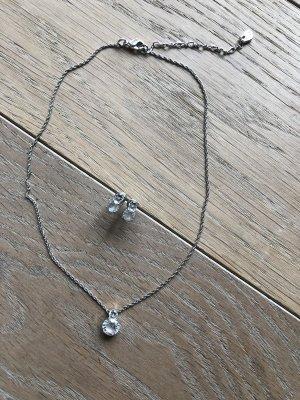 Swarovski Pendant white-silver-colored