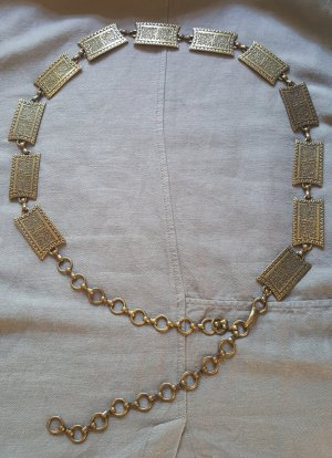 Chain Belt bronze-colored-ocher metal