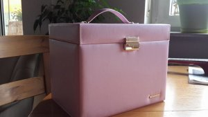 Turn Bag pink imitation leather