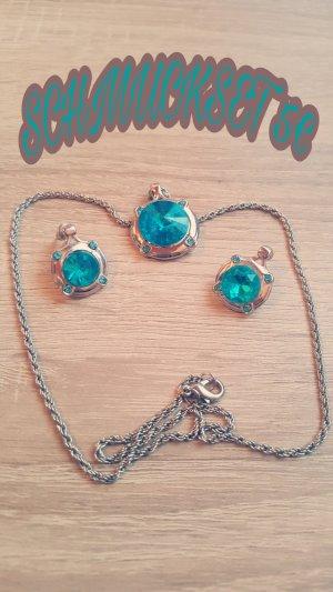 Collana azzurro-blu neon