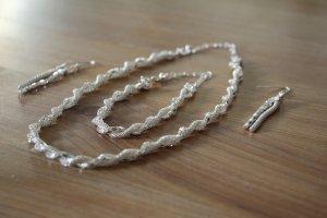 Schmuckset: Kette, Armband und Ohrringe