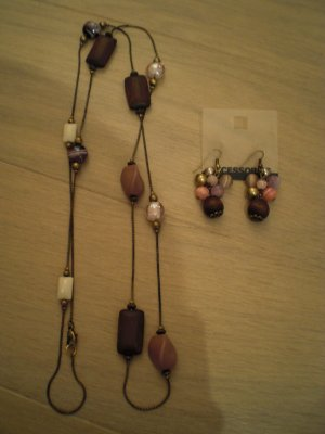 C&A Necklace grey brown-brown