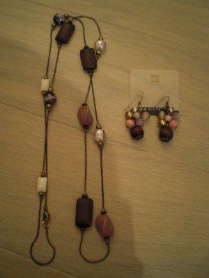 C&A Necklace grey brown-brown