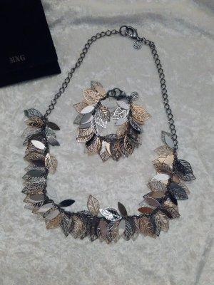 Schmuckset MANGO Silber-Gold Halsschmuck Armschmuck