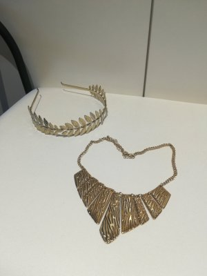 Six Statement ketting zilver-goud