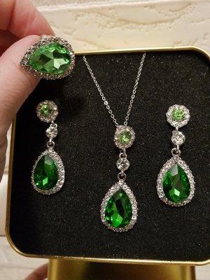 Orecchino argento-verde