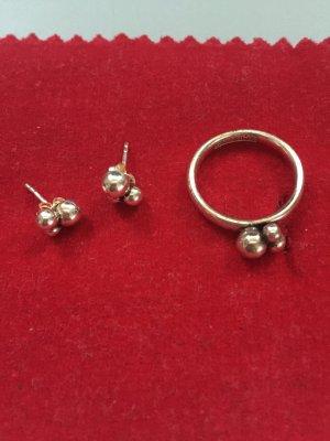Schmuckset Ring & Ohrstecker, 925er Silber