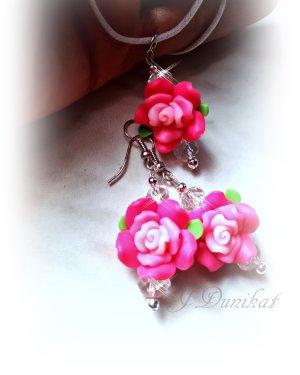 schmuckset Rose pink