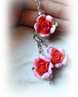 schmuckset Rose rosa