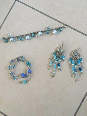 Schmuckset Türkis Perlen