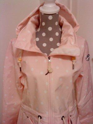 Schmuddelwedda Manteau de pluie rose-blanc