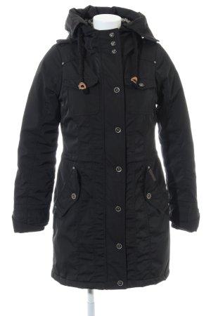 Schmuddelwedda Capuchon jas zwart casual uitstraling