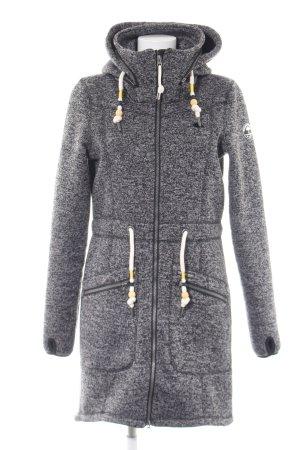 Schmuddelwedda Hooded Coat light grey allover print casual look