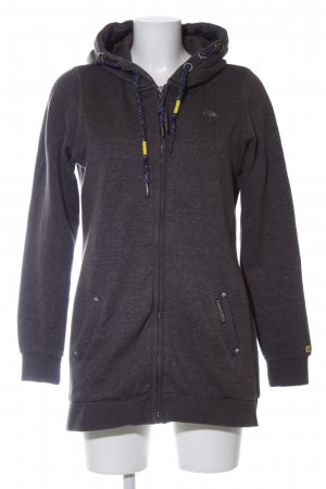 Schmuddelwedda Hooded Sweatshirt black flecked casual look