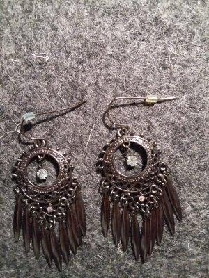 Schmuk-Ohrringe schwarz mit Strass