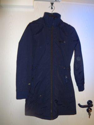 Schnäppchen für den Winter: Superwarmer, taillierter, dunkelblauer Mantel Gr. XS