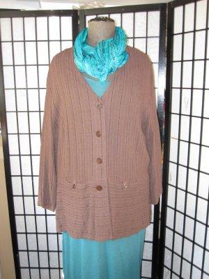 THEA 42 plus Blouse Jacket dark brown cotton