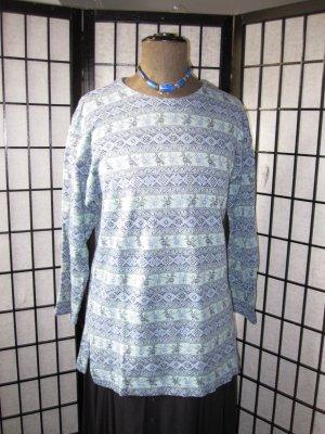 Camiseta estampada azul oscuro-azul celeste Algodón
