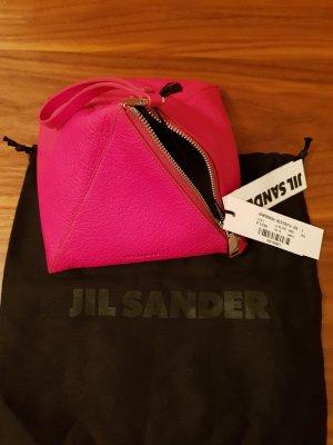 Schnäppchen Jil Sander Ledertasche Triangle pink Neu mit Etikette