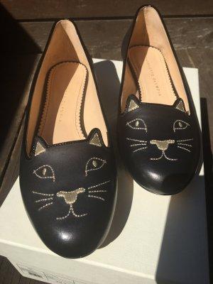 SCHNÄPPCHEN*Kitty Flats von Charlotte Olympia, Echtleder, AUSVERKAUFT, Gr, 39,5