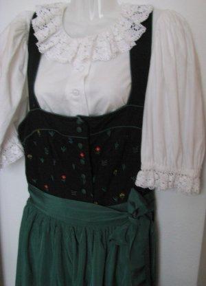 SCHNÄPPCHEN-PREIS! Sportalm Trachtenkled florales Blumenmuster schwarz mit kurzer Bluse und Seidenschürze