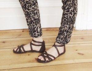 *SCHNÄPPCHEN* Riemchen Sandalen braun Sandaletten Riemen 38 39