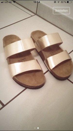 Zara Sandale d'extérieur marron clair-doré