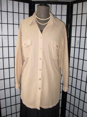 *Schnäppchen* Sportliche Hemdbluse Velourleder Fake Gr. 54-56