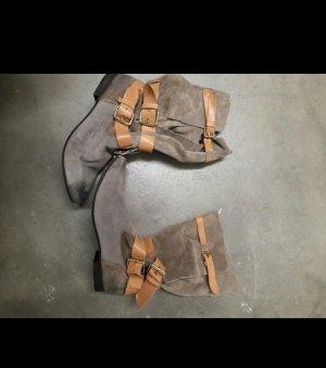 Zara Botte gris-brun sable