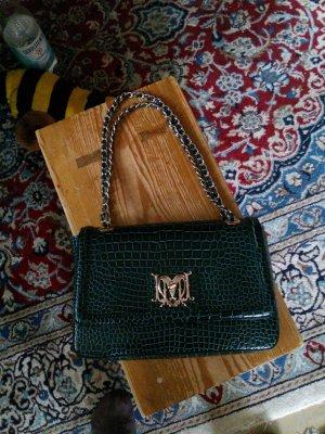 Schnapper Love Moschino Tasche in grüner Lack-Krokooptik