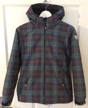 Schnee/Ski Jacke von Killtec in Größe 152 Farbe: Schwarz in blau/Pink karierte.