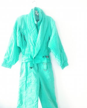 schnee / ski overall / vintage / grannystyle / boho / mint / türkis / onepiece